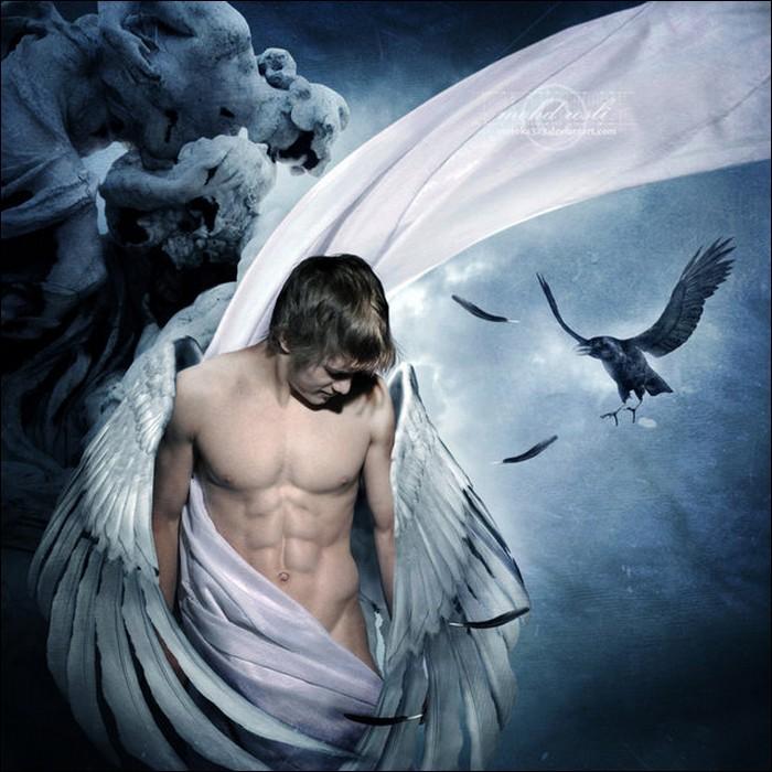 sexy fallen male angels wallpaper - photo #41