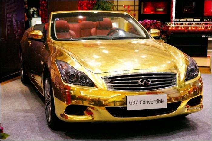 golden car wanna take a ride