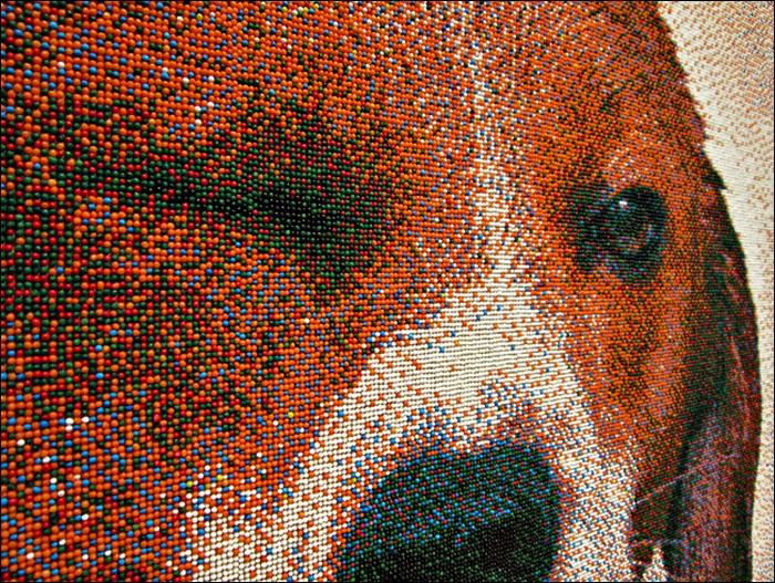 Pixelated beagle