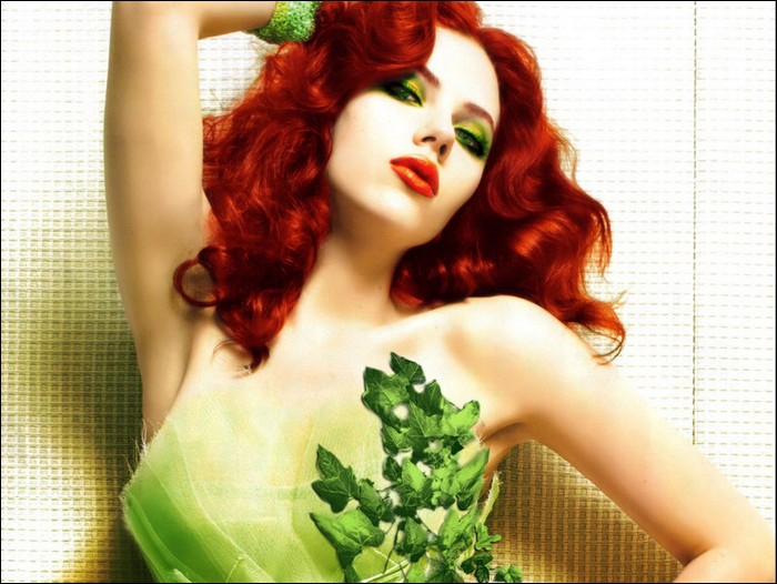 poison ivy villain pictures. Poison Ivy is depicted as one