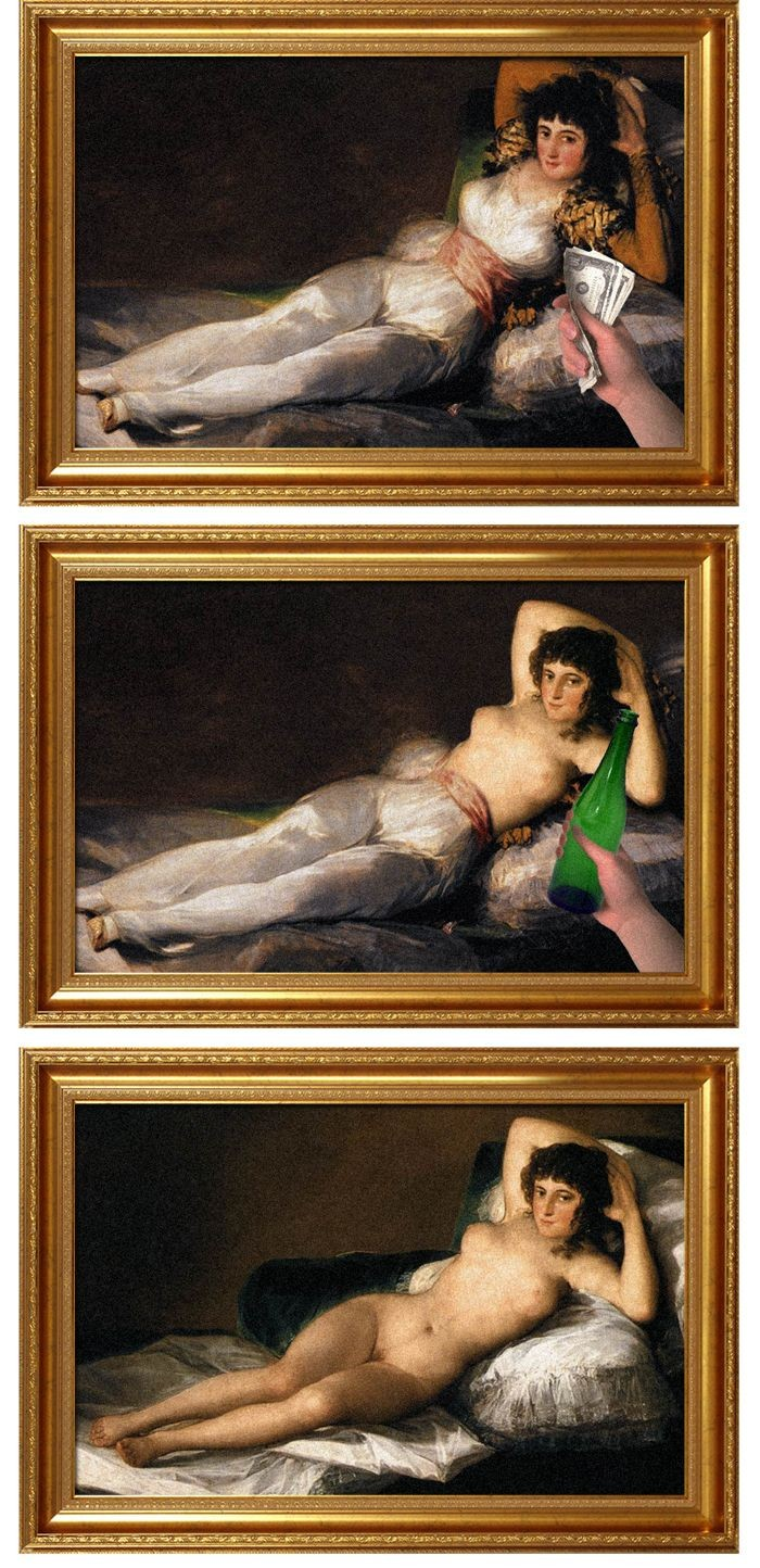 Paintings Before and After