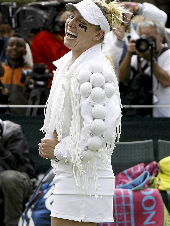 Lady Gaga of the tennis court