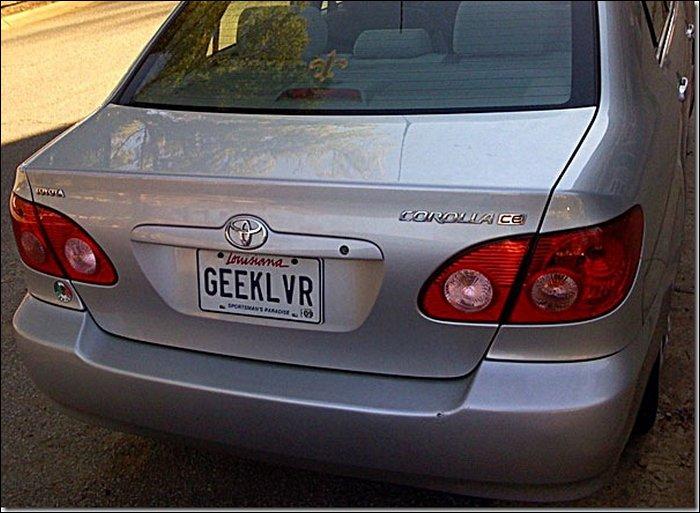 Geek License Plates