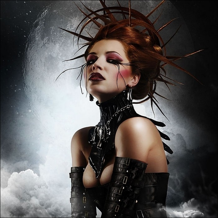 underneath all that makeup dark clothing and frightening look some