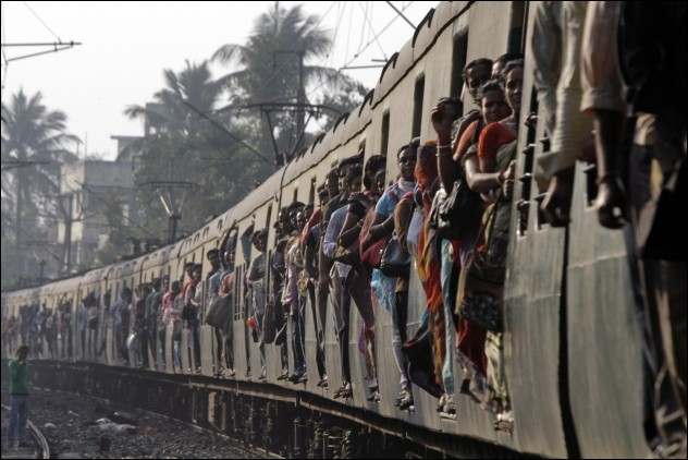 just an ordinary train ride in india