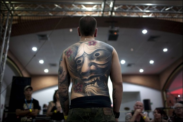 Tattoo and piercing convention in Caracas