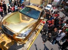Golden Car: Wanna take a ride?