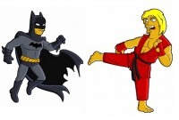 Superheroes from Springfield: Batman's a little yellow