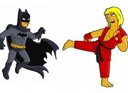 Superheroes from Springfield: Batman's a little yellow