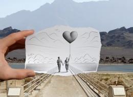 Mixed art by Ben Heine: Pencil VS. Camera
