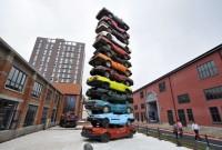 Retired Cars Sculpture