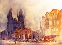 Architectural Watercolors by Maja Wronska