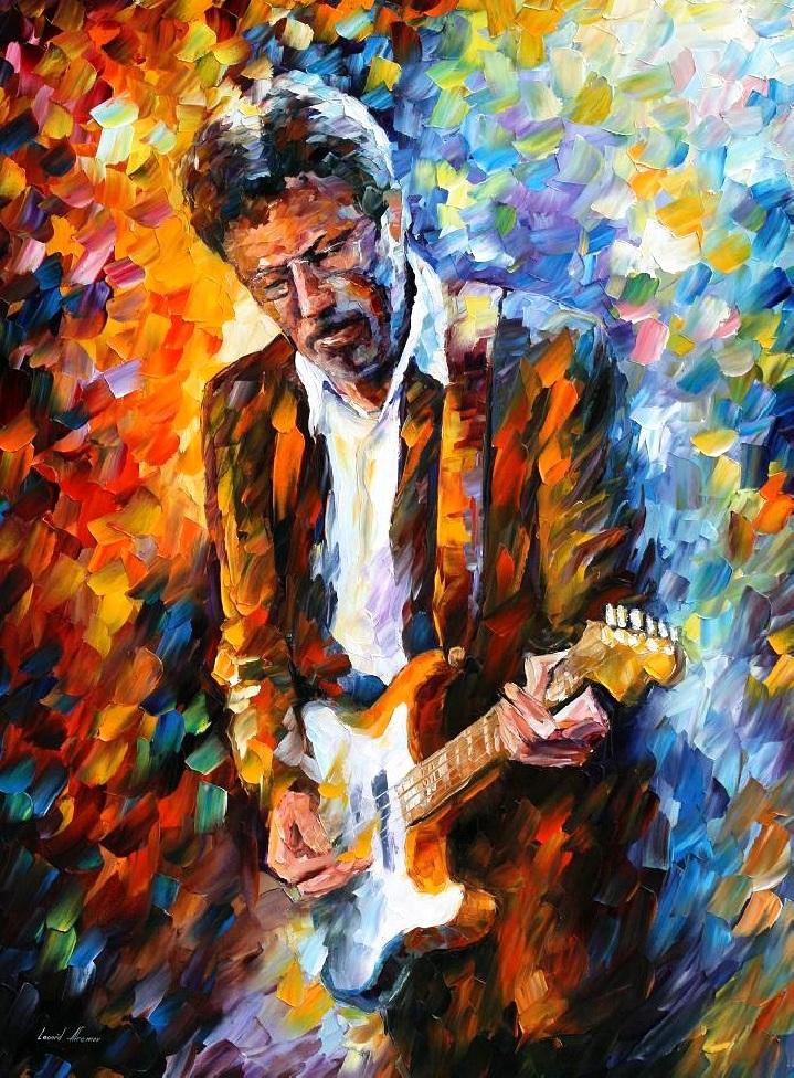 ERIC CLAPTON   LEONID AFREMOV by Leonidafremov Leonid Afremov: One  of the Most Colorful Painters Ever