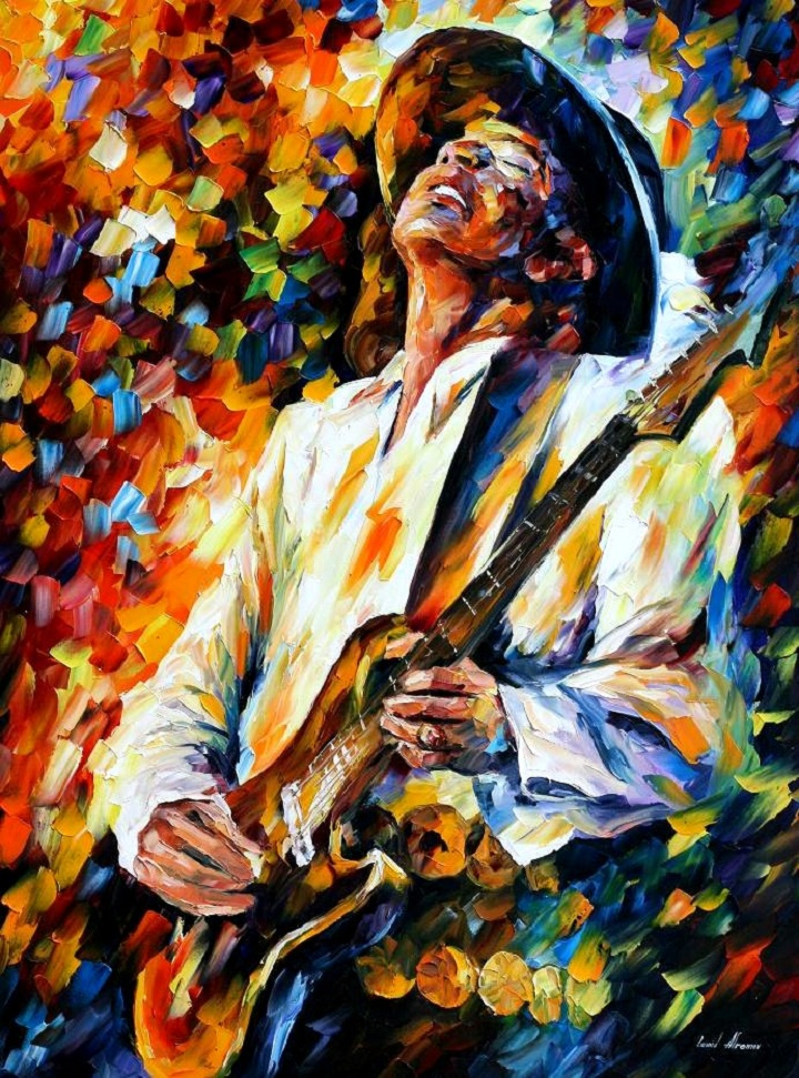 STEVIE RAY VAUGHAN   AFREMOV by Leonidafremov Leonid Afremov: One  of the Most Colorful Painters Ever
