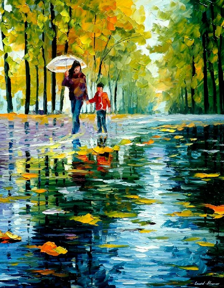 leonid afremov021 Leonid Afremov: One of the Most Colorful  Painters Ever