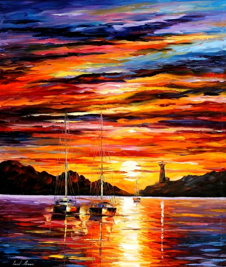 leonid afremov071 Leonid Afremov: One of the Most Colorful  Painters Ever
