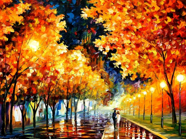 leonid afremov091 Leonid Afremov: One of the Most Colorful  Painters Ever