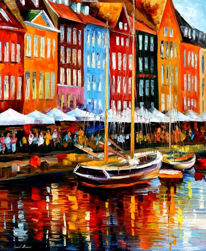 leonid afremov121 Leonid Afremov: One of the Most Colorful  Painters Ever