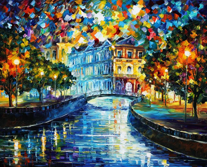leonid afremov241 Leonid Afremov: One of the Most Colorful  Painters Ever