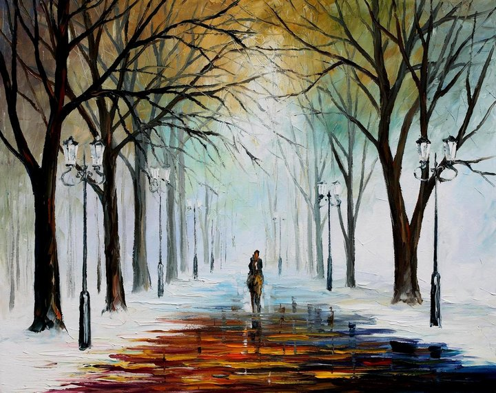 leonid afremov301 Leonid Afremov: One of the Most Colorful  Painters Ever
