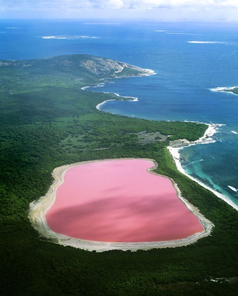 halobacterium the lake is one of the natural wonders of australia