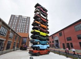 Retired Cars Sculpture