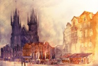 Architectural Watercolors by Maja Wronska